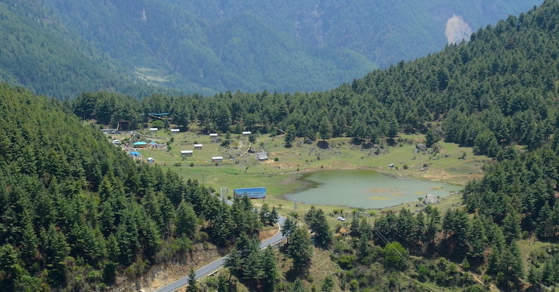 Camping site in Gyirong Town